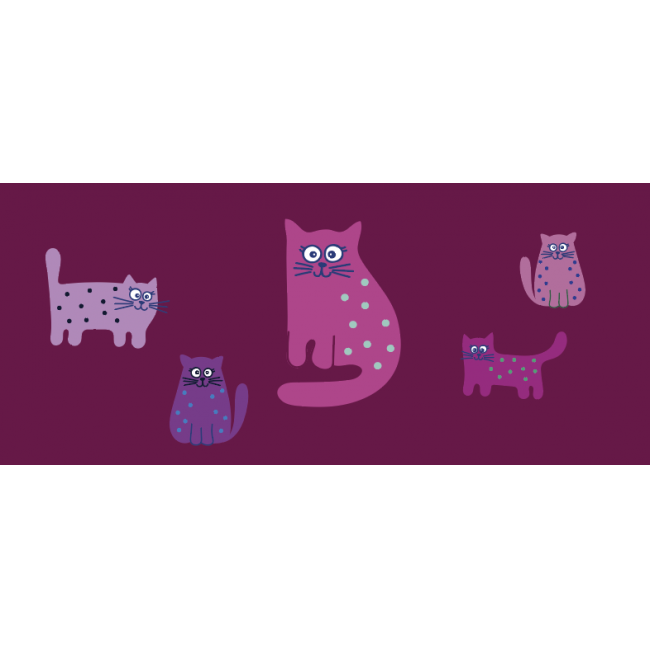 KIDS-Maske CATS pink