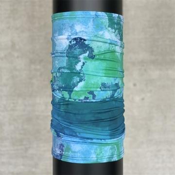 Multifunktionsschal Batik Struktur Grünblau
