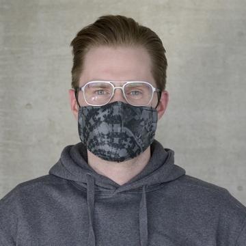 Maske FLORAL BLACK ANTIVIRAL