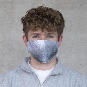 """Gesichtsmaske """"X-mas"""" silber"""