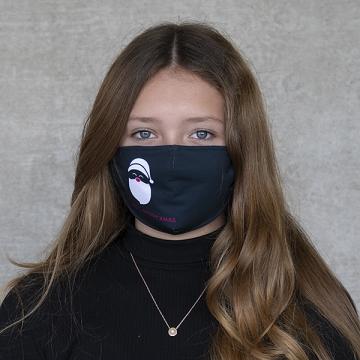 """Gesichtsmaske """"X-mas Santa"""" black"""