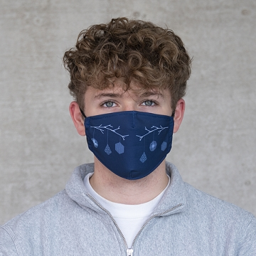 """Gesichtsmaske """"X-mas"""" blau"""