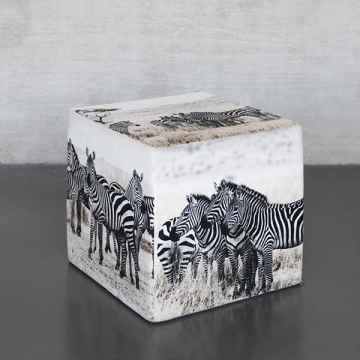 Sitzwürfel AFRICA Zebra