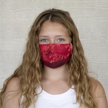 Gesichtsmaske BATIK STRUKTUR, rot