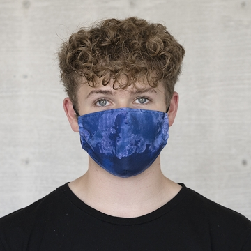Gesichtsmaske BATIK STRUKTUR, royalblau