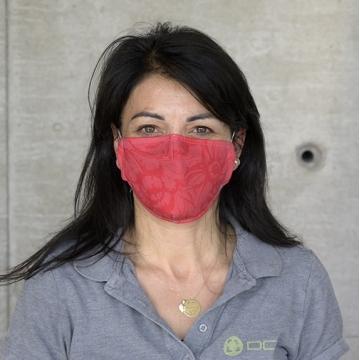 Maske FLORAL Red ANTIVIRAL